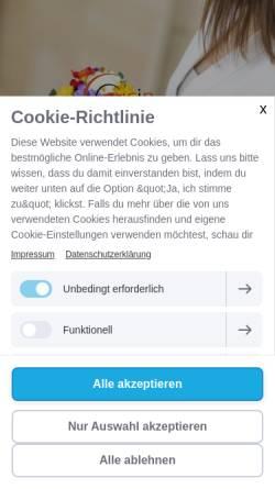 Vorschau der mobilen Webseite www.cucin.de, Cucin Photography