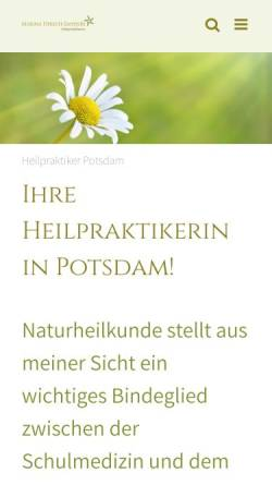 Vorschau der mobilen Webseite heilpraktiker-potsdam-hirsch.de, Heilpraktikerin Bioresonanz Akupunktur Raucherentwöhnung Marina Hirsch-Sanders