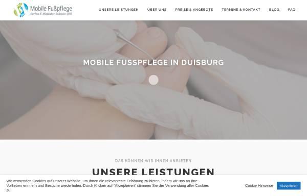 Vorschau von fusspflege-in-duisburg.de, Mobile Fußpflege Duisburg - Matthias Schmitz