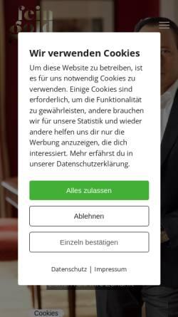 Vorschau der mobilen Webseite www.feingoldhaus.de, Feingoldhaus Leipzig