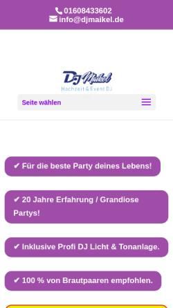 Vorschau der mobilen Webseite www.hochzeit-dj-kiel.eu, DJ Maikel