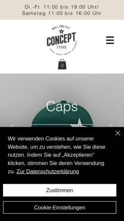 Vorschau der mobilen Webseite www.nullzwoelf-concept.de, NULLZWOELF Concept Store