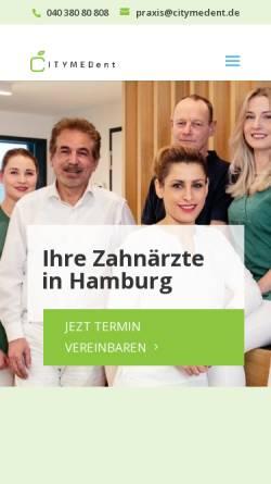 Vorschau der mobilen Webseite citymedent.de, Zahnärztin Rasha Farzanehnia