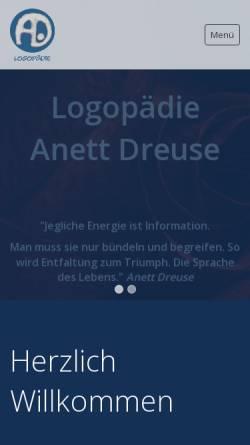 Vorschau der mobilen Webseite www.dreuseanett.de, Logopädie Anett Dreuse