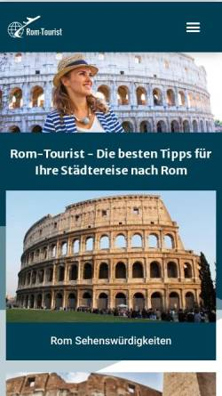 Vorschau der mobilen Webseite rom-tourist.de, Rom-Tourist.de