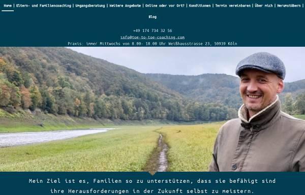 Vorschau von www.toe-to-toe-coaching.com, Mihàly Szöcs Familienhilfe & Elterncoaching
