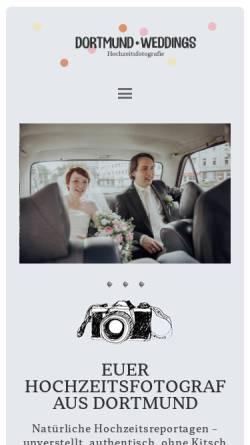 Vorschau der mobilen Webseite www.dortmund-weddings.de, Dortmund-Weddings Hochzeitsfotografie