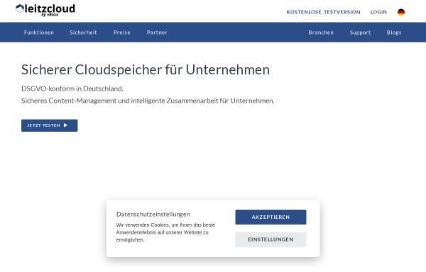 Vorschau von leitz-cloud.com, LeitzCloud by vBoxx GmbH