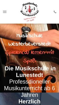 Vorschau der mobilen Webseite www.musikschule-westerbeverstedt.de, Musikschule Westerbeverstedt