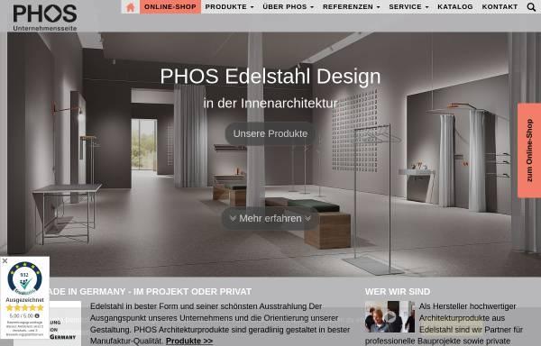 Vorschau von www.phos.de, PHOS Edelstahl Design