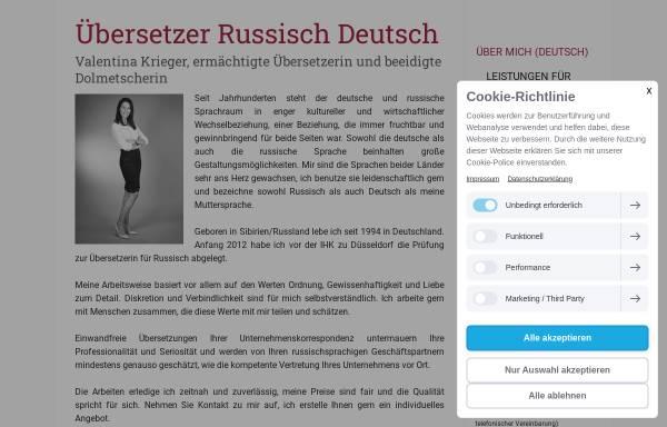 Vorschau von www.vk-uebersetzungen.de, Übersetzungen Valentina Krieger