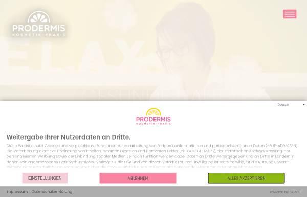 Vorschau von kosmetik-brenk.de, PRODERMIS Kosmetik-Praxis