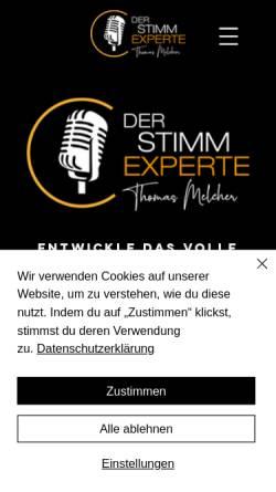 Vorschau der mobilen Webseite www.der-stimmexperte.de, Der Stimmexperte