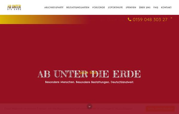 Vorschau von www.ab-unter-die-erde.de, Ab unter die Erde