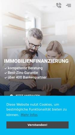Vorschau der mobilen Webseite www.bothe-immobilienfinanzierung.de, BOTHE IMMOBILIENFINANZIERUNG