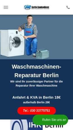 Vorschau der mobilen Webseite www.repair24.berlin, Repair24