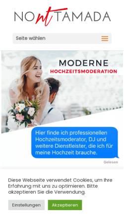 Vorschau der mobilen Webseite no-tamada.de, Hochzeitsmoderator Alexander Feldmann