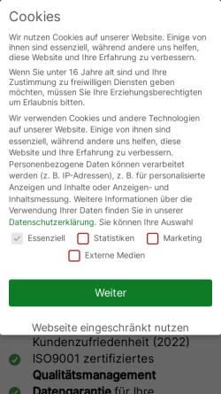Vorschau der mobilen Webseite www.recoverylab.de, RecoveryLab Datenrettung