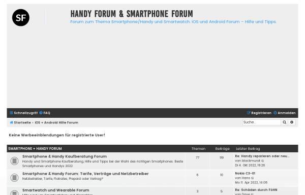 Vorschau von www.smartphoneforum.de, Smartphone Forum