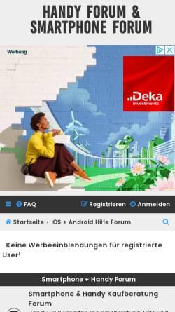 Vorschau der mobilen Webseite www.smartphoneforum.de, Smartphone Forum
