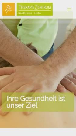 Vorschau der mobilen Webseite www.therapiezentrum-drk.de, Therapiezentrum in den DRK-Kliniken Nordhessen