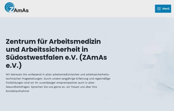 Vorschau von www.zamaspb.net, Zentrum für Arbeitsmedizin und Arbeitssicherheit e.V.