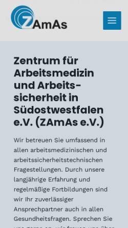 Vorschau der mobilen Webseite www.zamaspb.net, Zentrum für Arbeitsmedizin und Arbeitssicherheit e.V.