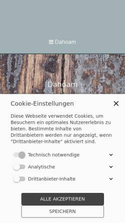 Vorschau der mobilen Webseite ferienwohnung-oberammergau.bayern, Ferienwohnung Marka