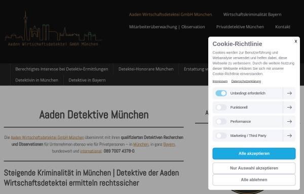 Vorschau von www.aaden-detektive-muenchen.de, Aaden Detektei München
