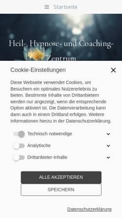 Vorschau der mobilen Webseite www.angelaburgdorf.de, Heil-, Hypnose- und Coaching-Zentrum Greifswald