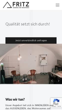 Vorschau der mobilen Webseite fritz-sanieren-renovieren.de, Fritz – Sanieren und Renovieren