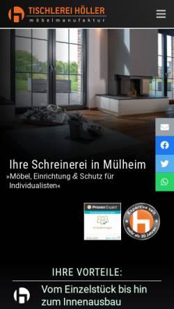 Vorschau der mobilen Webseite www.schreinerei-in-muelheim.de, Tischlerei HOELLER