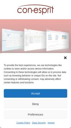 Vorschau der mobilen Webseite conesprit.de, conesprit GmbH