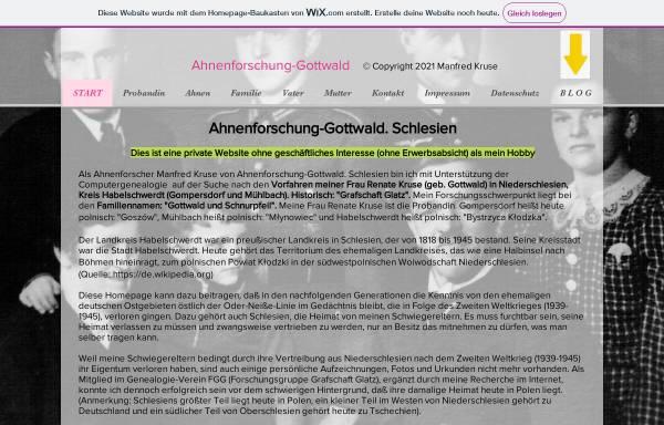 Vorschau von kruse33.wixsite.com, Ahnenforschung Gottwald