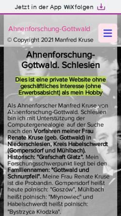 Vorschau der mobilen Webseite kruse33.wixsite.com, Ahnenforschung Gottwald