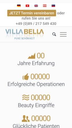 Vorschau der mobilen Webseite villa-bella.org, Villa Bella