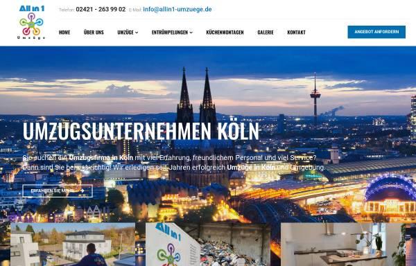 Vorschau von www.allin1-umzuege.de, All in 1 Umzüge