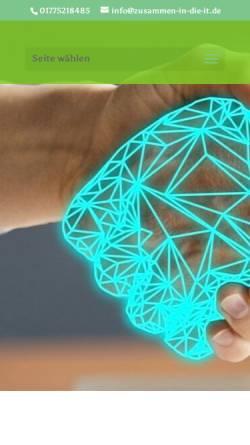 Vorschau der mobilen Webseite www.zusammen-in-die-it.de, Zusammen-in-die-IT