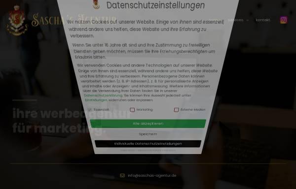 Vorschau von saschas-agentur.de, Sascha´s Agentur