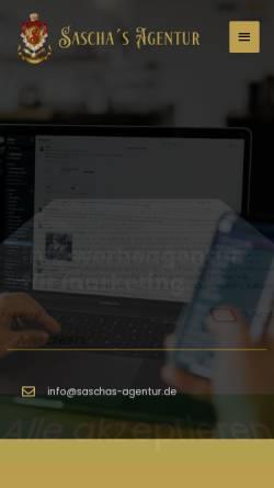 Vorschau der mobilen Webseite saschas-agentur.de, Sascha´s Agentur