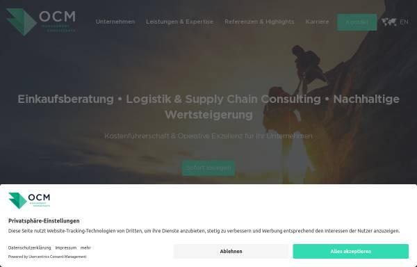Vorschau von www.ocmconsulting.de, OCM Management Consultants