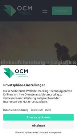 Vorschau der mobilen Webseite www.ocmconsulting.de, OCM Management Consultants