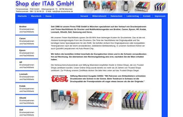 Vorschau von www.itab-druckertinte.de, ITAB GmbH