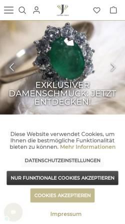 Vorschau der mobilen Webseite juweliero.de, Juweliero