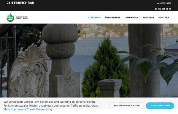 Vorschau von www.gurbet.biz, Gurbet Bestattungen GmbH