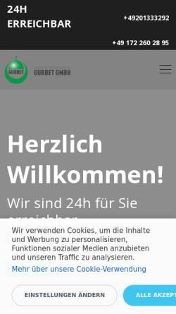 Vorschau der mobilen Webseite www.gurbet.biz, Gurbet Bestattungen GmbH
