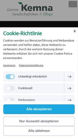Vorschau der mobilen Webseite kemna-duisburg.de, Otto Kemna GmbH & Co KG.
