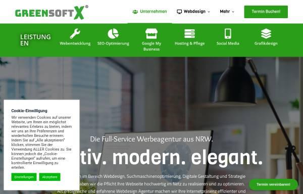 Vorschau von www.greensoftx.de, Greensoftx   Webdesign Agentur