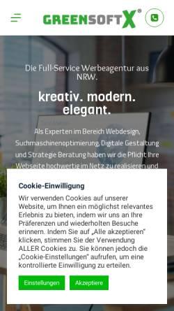 Vorschau der mobilen Webseite www.greensoftx.de, Greensoftx   Webdesign Agentur