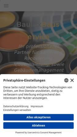 Vorschau der mobilen Webseite bauluxbauservice.de, Bauluxbauservice